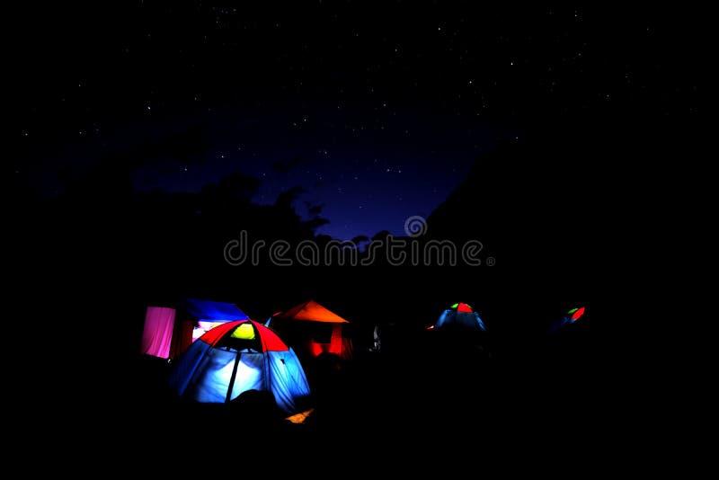 Uli Biaho da Khorburtse, notte fotografia stock