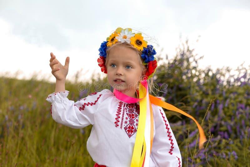 Download Little Ukrainian Girl In Circlet Of Flowers Stock Photo - Image of children, girl: 41502772
