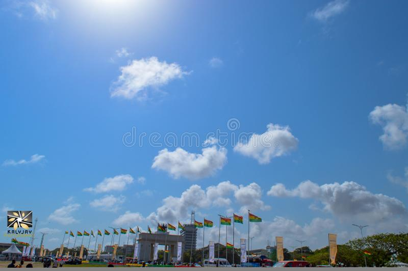 Ulica Accra zdjęcia royalty free
