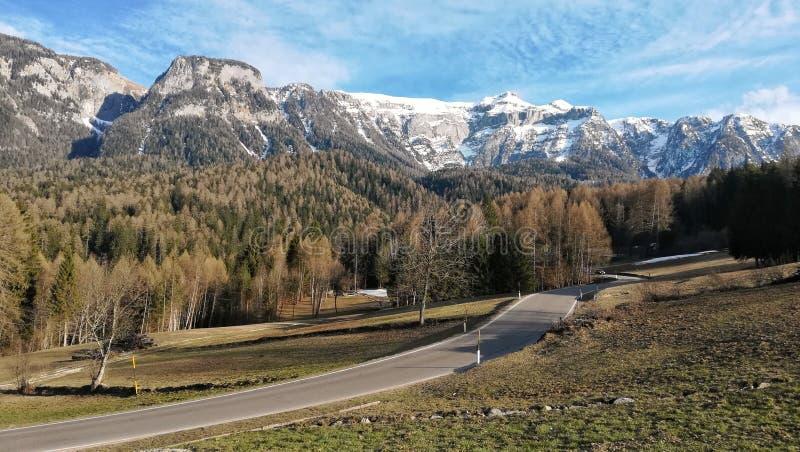 ulica Alps, Dolomiti Di Brenta, Madonna Di Campiglio, bel Vedere zdjęcia stock
