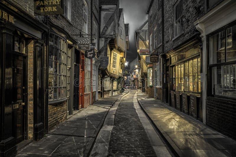 Ulica bałagan w Jork, Anglia zdjęcia royalty free