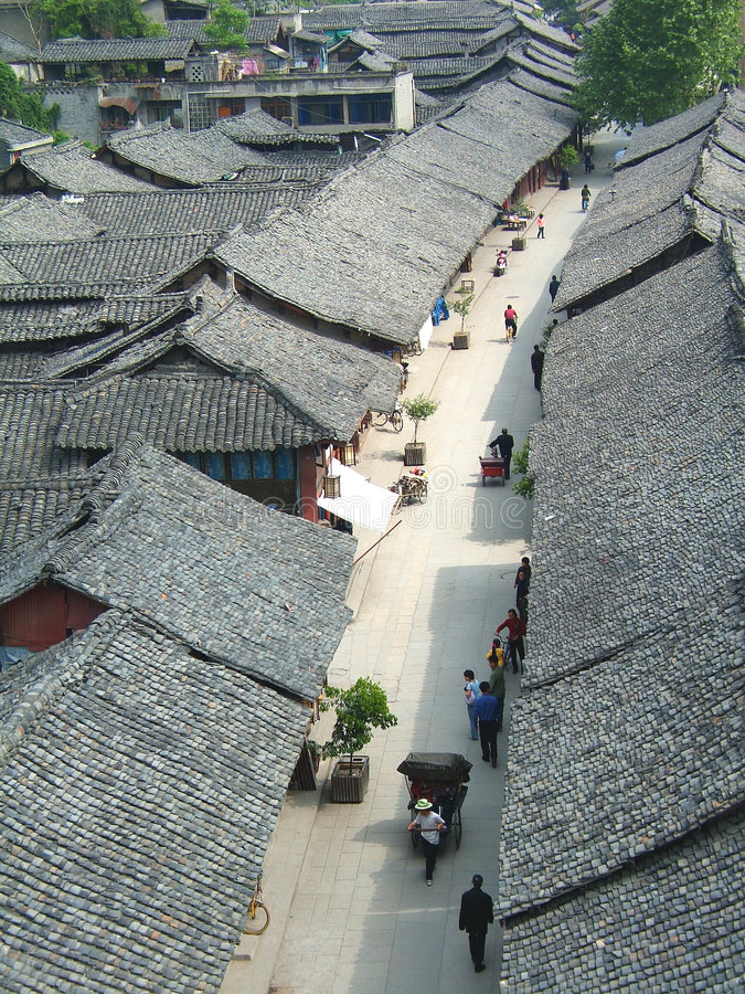 ulica chiński styl zdjęcia royalty free