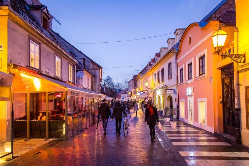 Ulica de Tkalciceva imagen de archivo libre de regalías