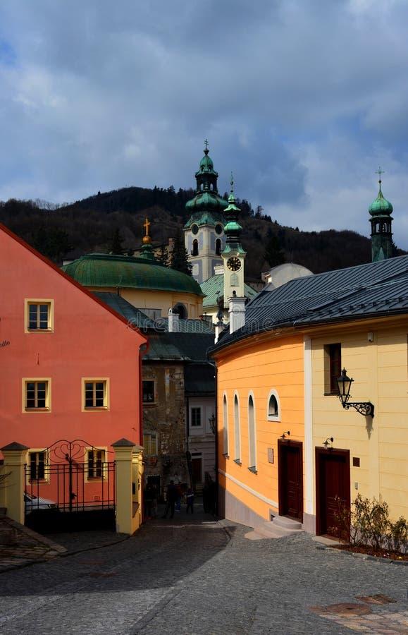 Ulica historyczny miasteczko obrazy royalty free