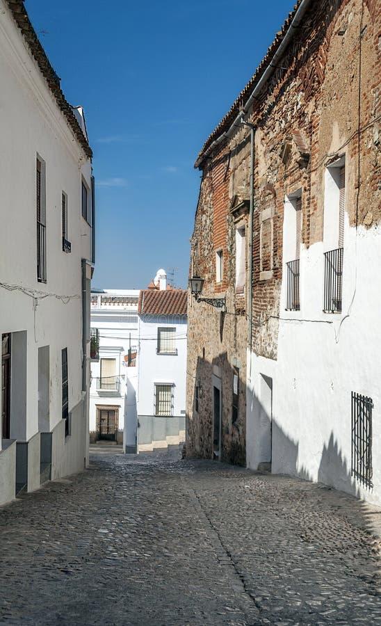 Ulica Jerez De Los Caballeros fotografia royalty free