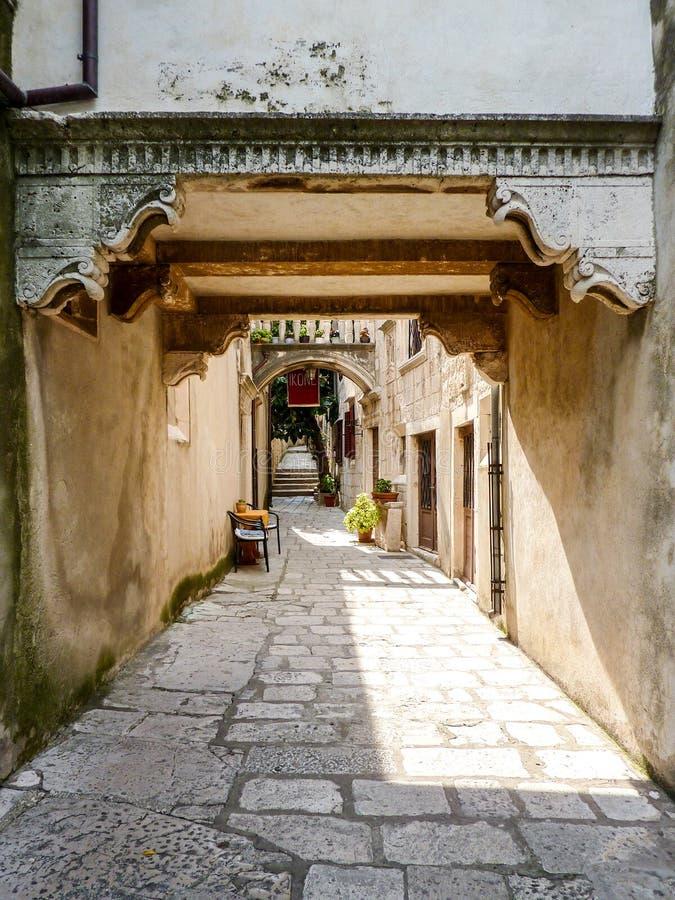 Ulica Kaporova街和入口对象博物馆 库存图片