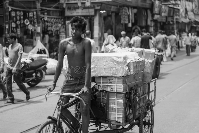 Ulica Kolkata zdjęcia royalty free