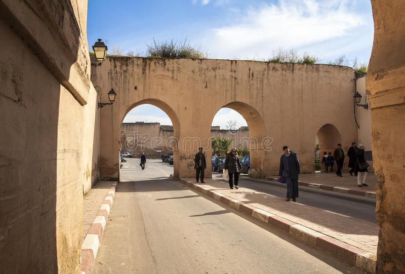 Ulica Meknes, Maroko zdjęcia royalty free