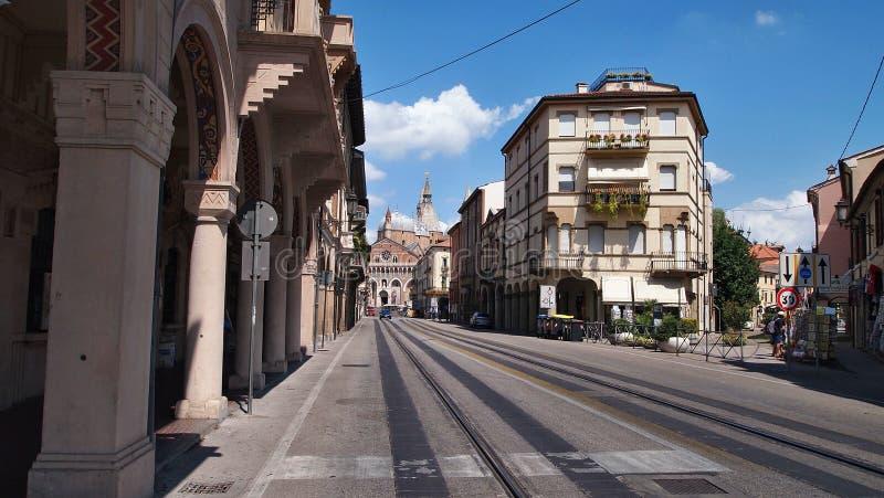 Ulica Padua w gorącym lecie zdjęcia royalty free
