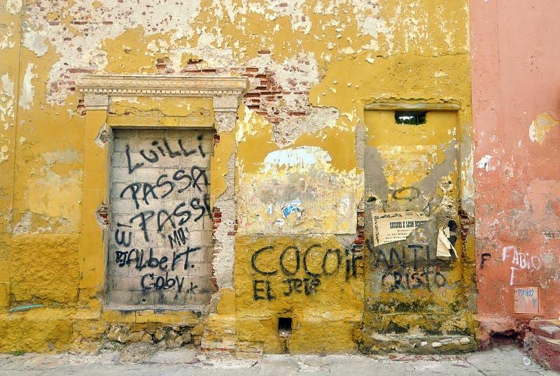 Ulica przy Cartagena, Kolumbia obrazy royalty free
