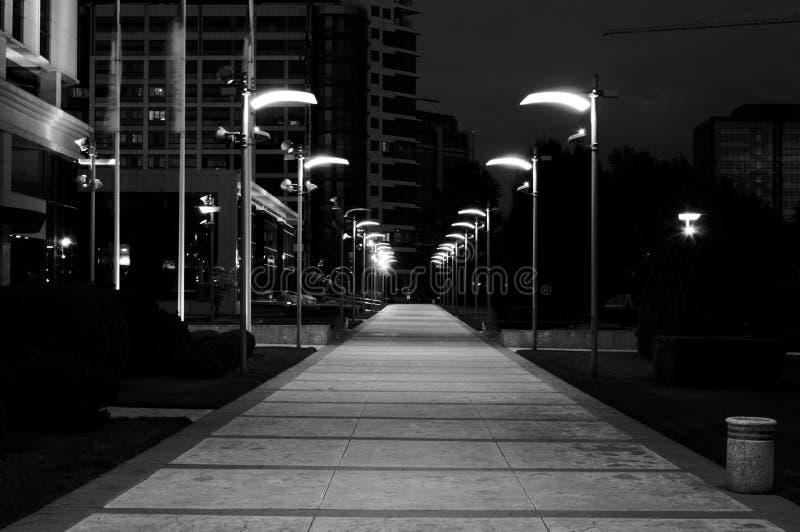 Ulica przy nocą obraz royalty free