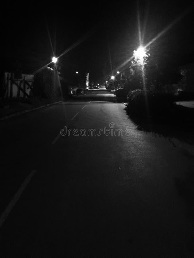 Ulica przy nocą zdjęcia royalty free