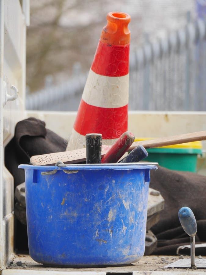 Ulica rożka wiadra narzędzia zdjęcie royalty free