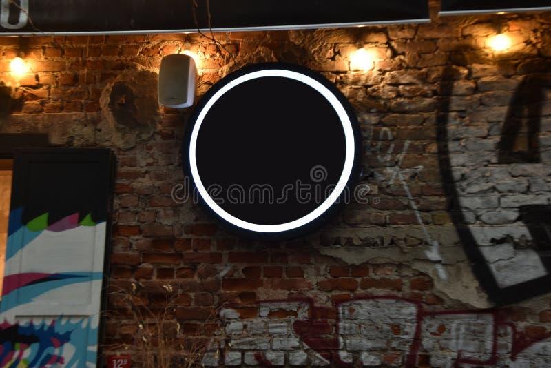 Ulica sklepowy szablon i signboard, puste miejsce dla twój projekta obrazy stock