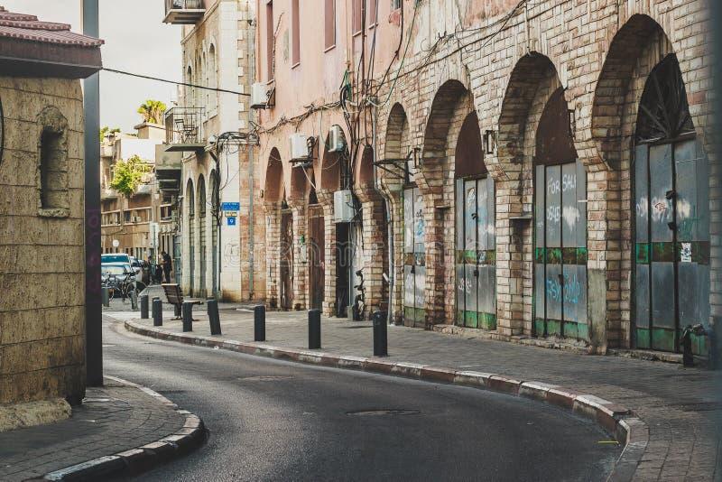 Ulica stary Jaffa, Izrael obraz royalty free