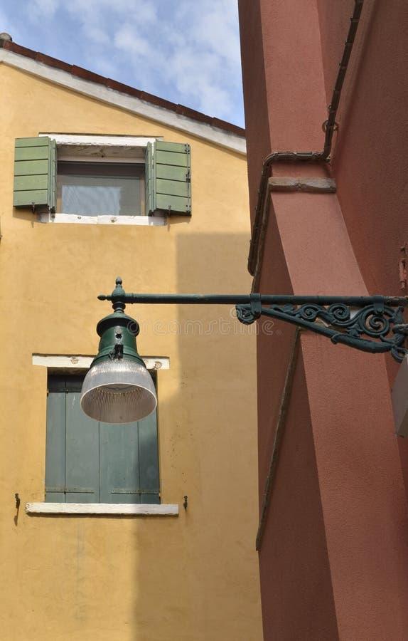 ulica venetian lampa fotografia royalty free
