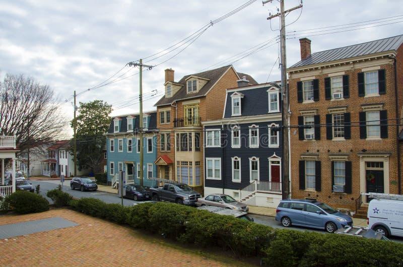 Ulica w środkowym Annapolis obraz stock