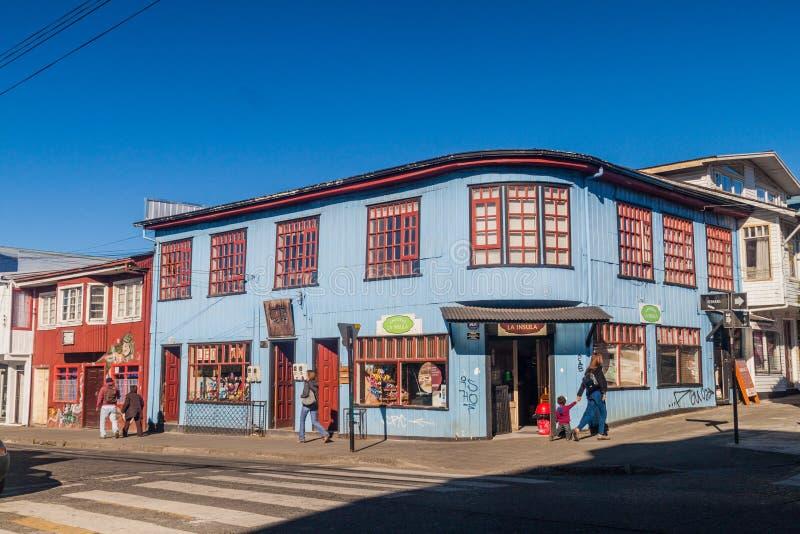 Ulica w Castro obrazy stock