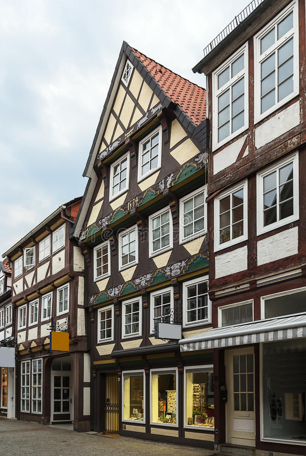 Ulica w Celle, Niemcy obrazy royalty free