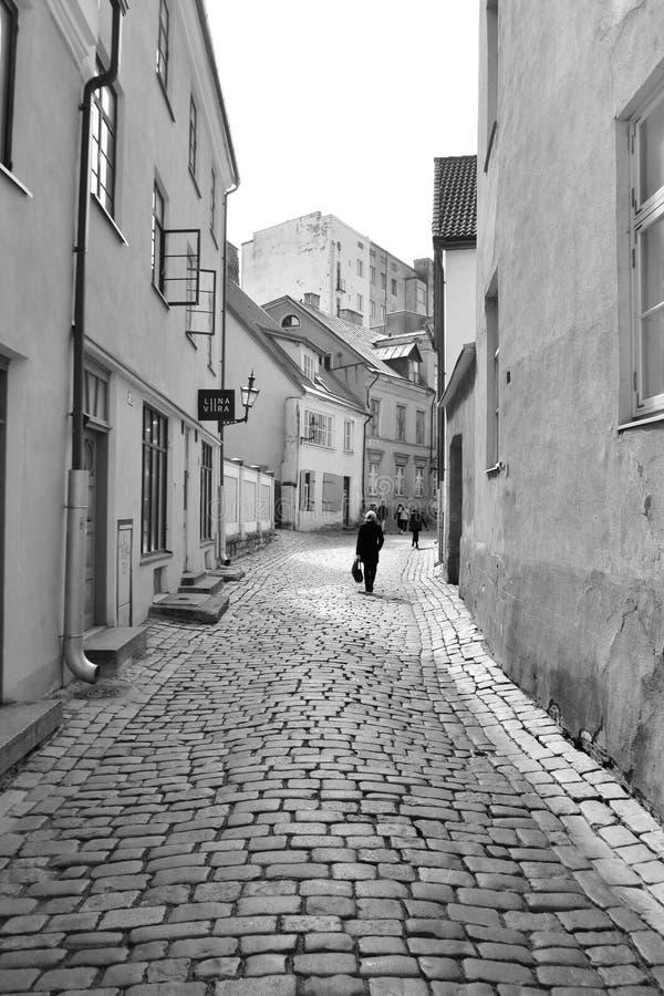 Ulica w centrum Tallinn zdjęcie stock