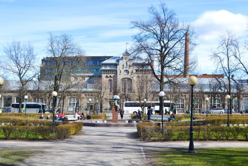 Ulica w centrum Tallinn zdjęcia stock