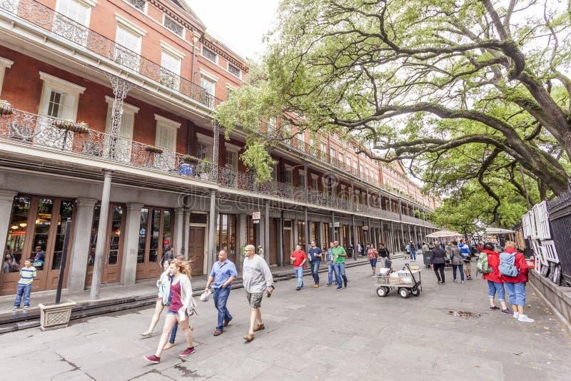 Ulica w dzielnicie francuskiej, Nowy Orlean, Luizjana zdjęcia royalty free