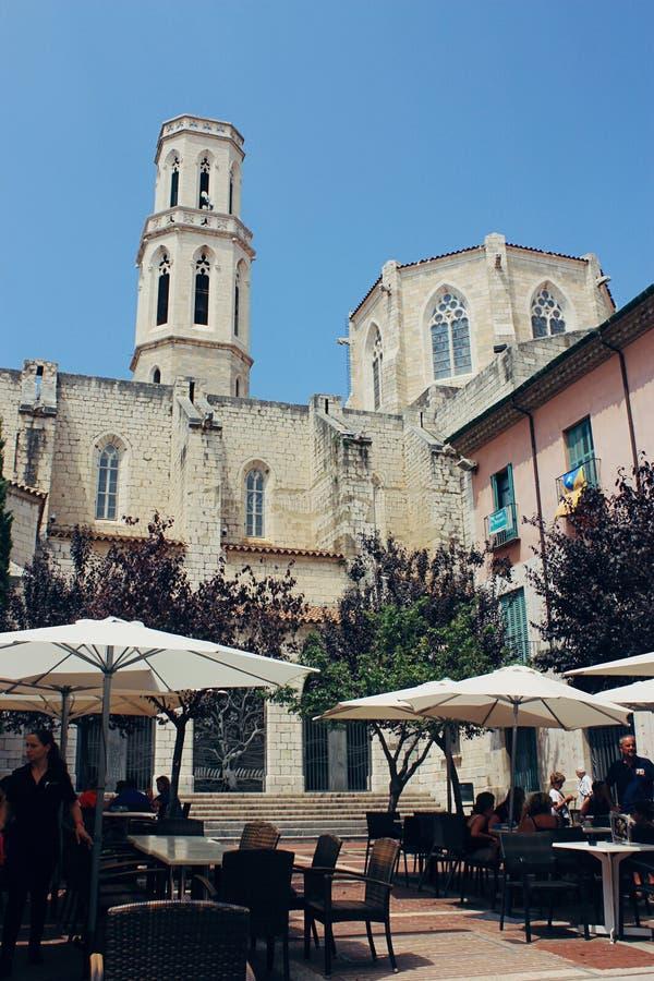 Ulica w Figueres, Hiszpania obraz royalty free
