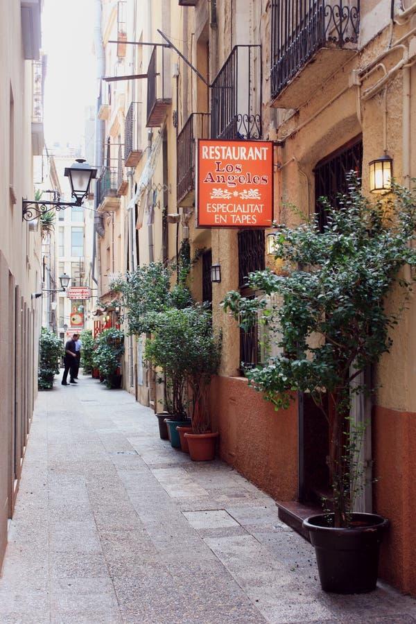 Ulica w Figueres, Hiszpania zdjęcie stock