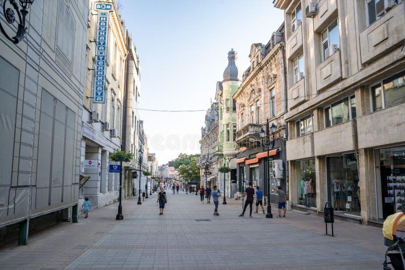 Ulica w fortelu w Bułgaria zdjęcie stock