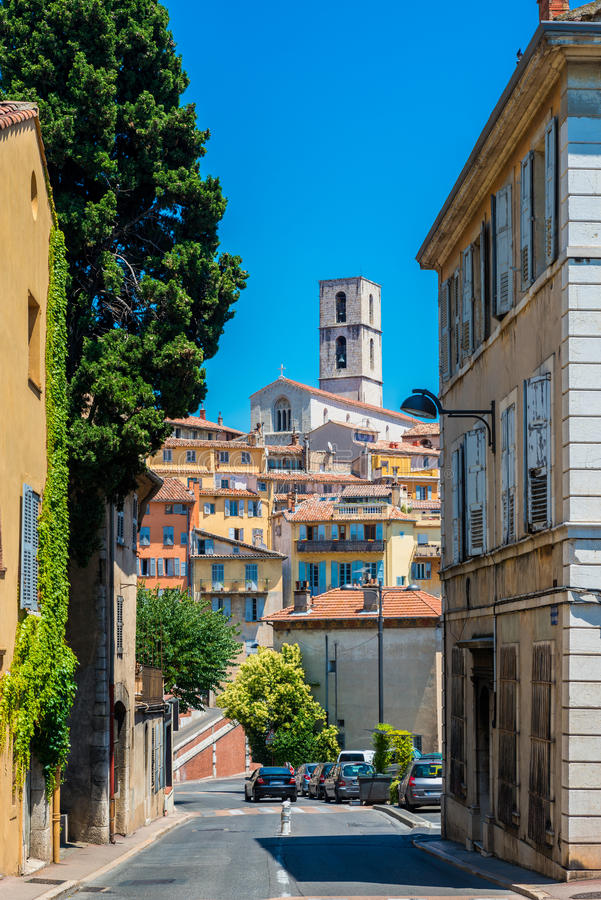 Ulica w Grasse Francja zdjęcie stock