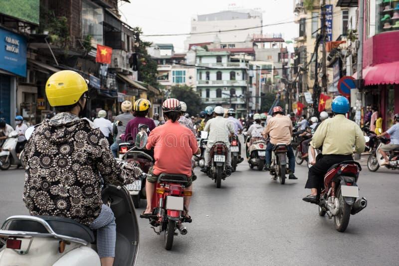 Ulica w Hanoi mieście zdjęcia stock