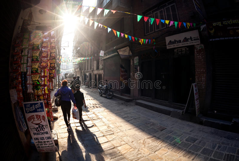 Ulica w Kathmandu obrazy royalty free