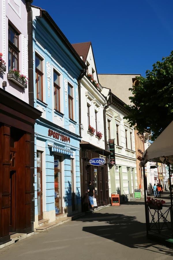 Ulica w Kezmarok miasteczku zdjęcia stock