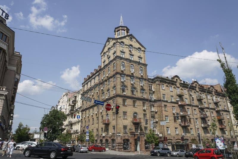 Ulica w Kijów, Ukraina obraz stock