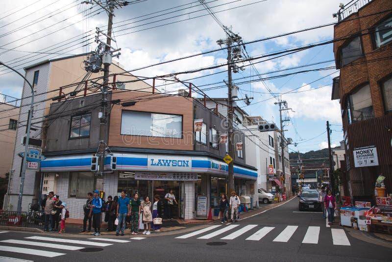 Ulica w Kyoto Japan, Kyoto jest sławnym podróżnym miastem w świacie obraz stock