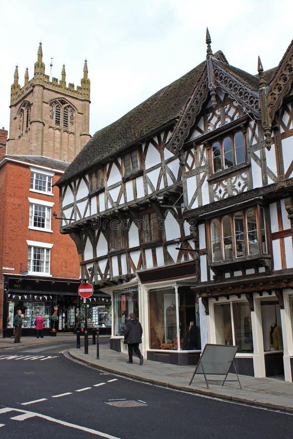 Ulica w Ludlow fotografia royalty free
