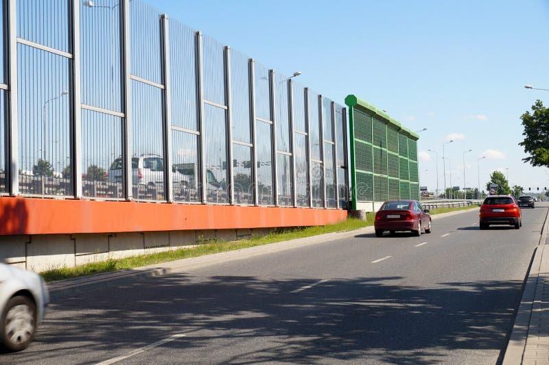Ulica w mieście budował z dwa typ panel ogranicza n obrazy royalty free