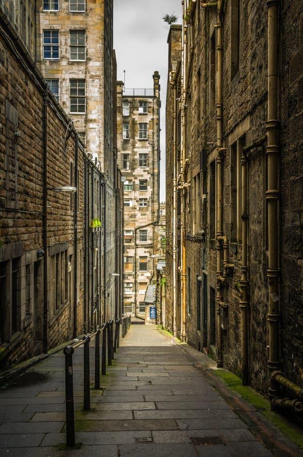 Ulica w mieście Edynburg Szkocja obrazy royalty free