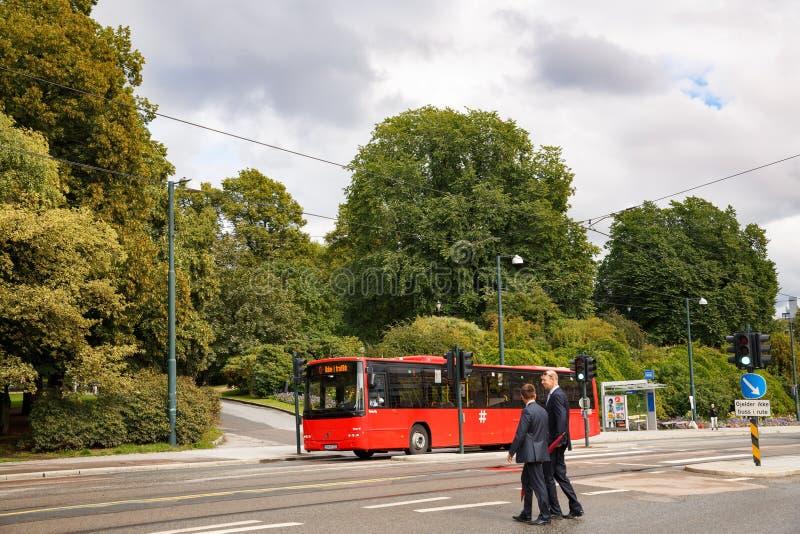 Ulica w Oslo mieście zdjęcie royalty free