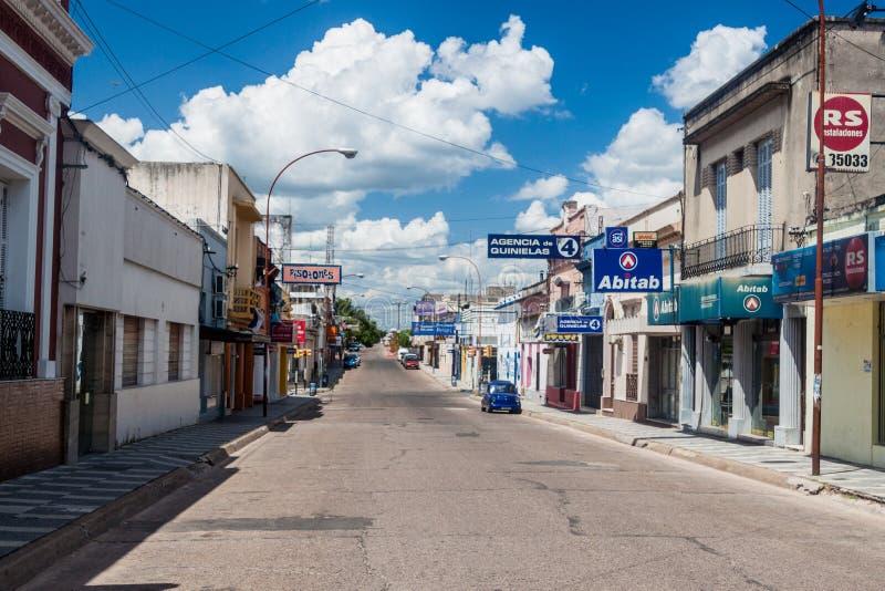 Ulica w Paysandu, Urugwaj obraz royalty free