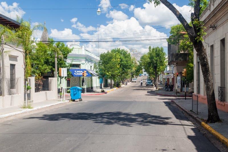 Ulica w Paysandu, Urugwaj obraz stock