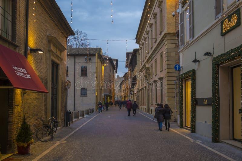 Ulica w Pesaro mieście, Włochy obraz stock