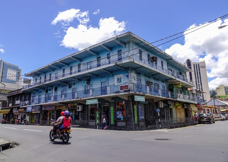 Ulica w Portowym Louis, Mauritius zdjęcie royalty free