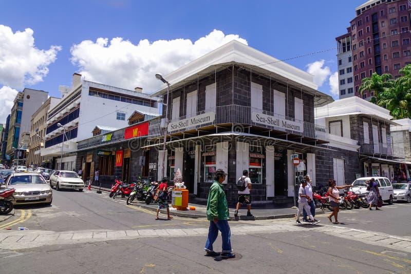 Ulica w Portowym Louis, Mauritius fotografia royalty free