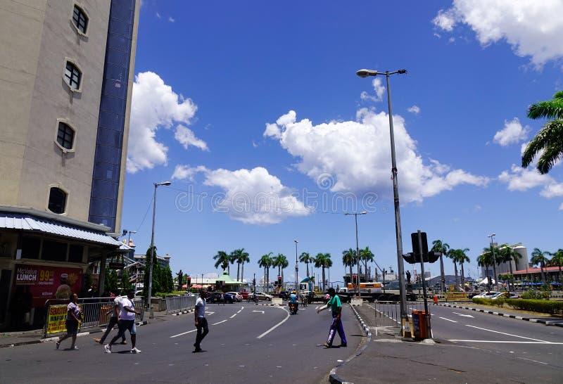 Ulica w Portowym Louis, Mauritius obrazy stock