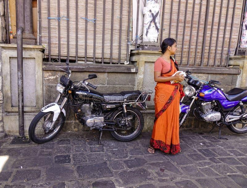 Ulica w Portowym Louis, Mauritius obrazy royalty free