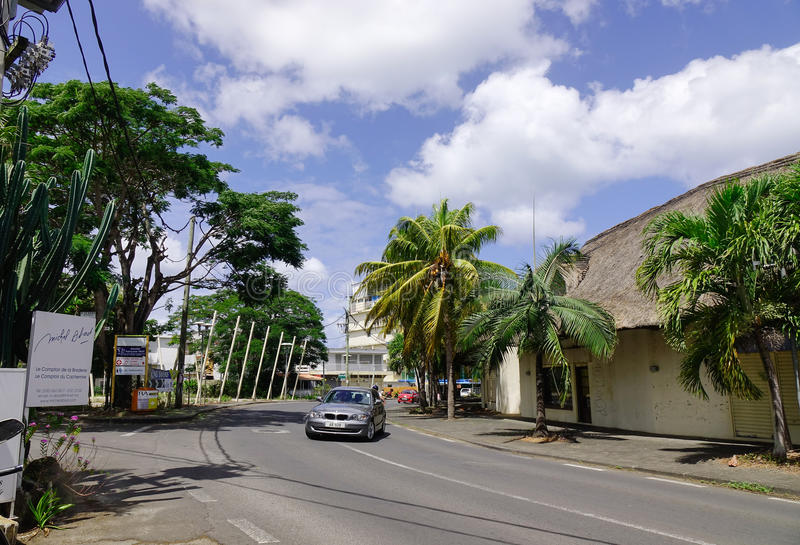 Ulica w Portowym Louis, Mauritius obraz royalty free