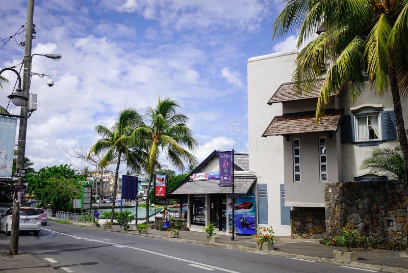Ulica w Portowym Louis, Mauritius zdjęcie stock