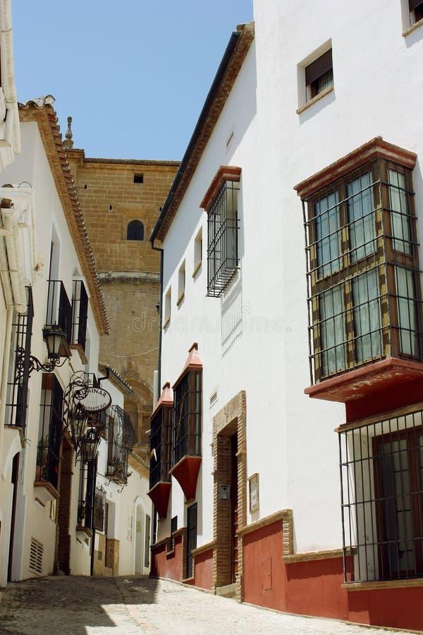 Ulica w Ronda, Hiszpania zdjęcie stock