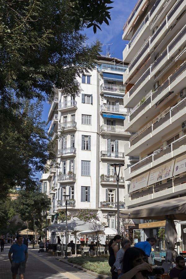 Ulica w Salonikach, Grecja zdjęcie royalty free